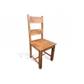 Hnědá židle z mangového masivu