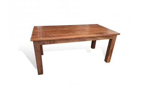 Hnědý jídelní stůl z mangového masivu