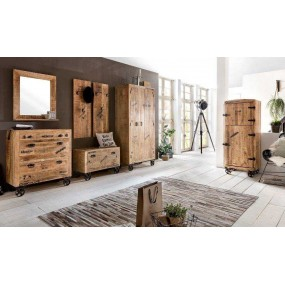 Koupelnová skříňka na stěnu Rhein mangové dřevo