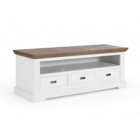 Rustikální televizní stolek z akátového dřeva Sterling