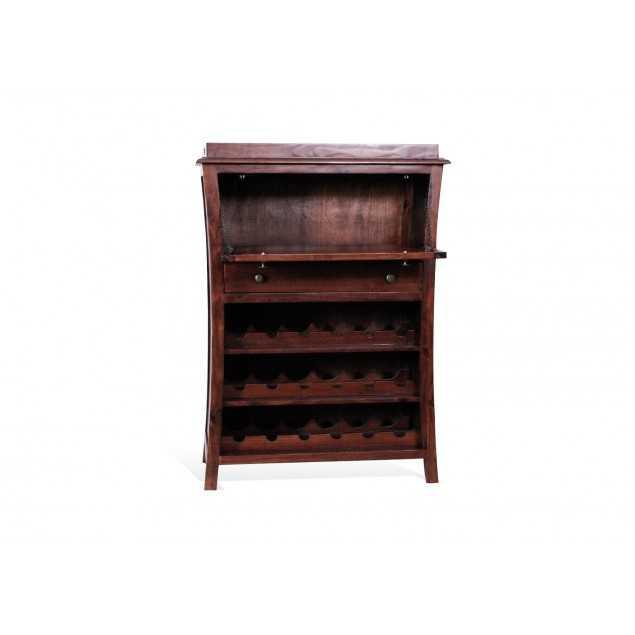 Dřevěná barová komoda borovice Occasional kaštanová