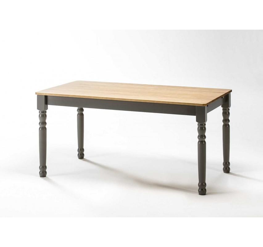 Šedý jídelní stůl 150x85 Irelia