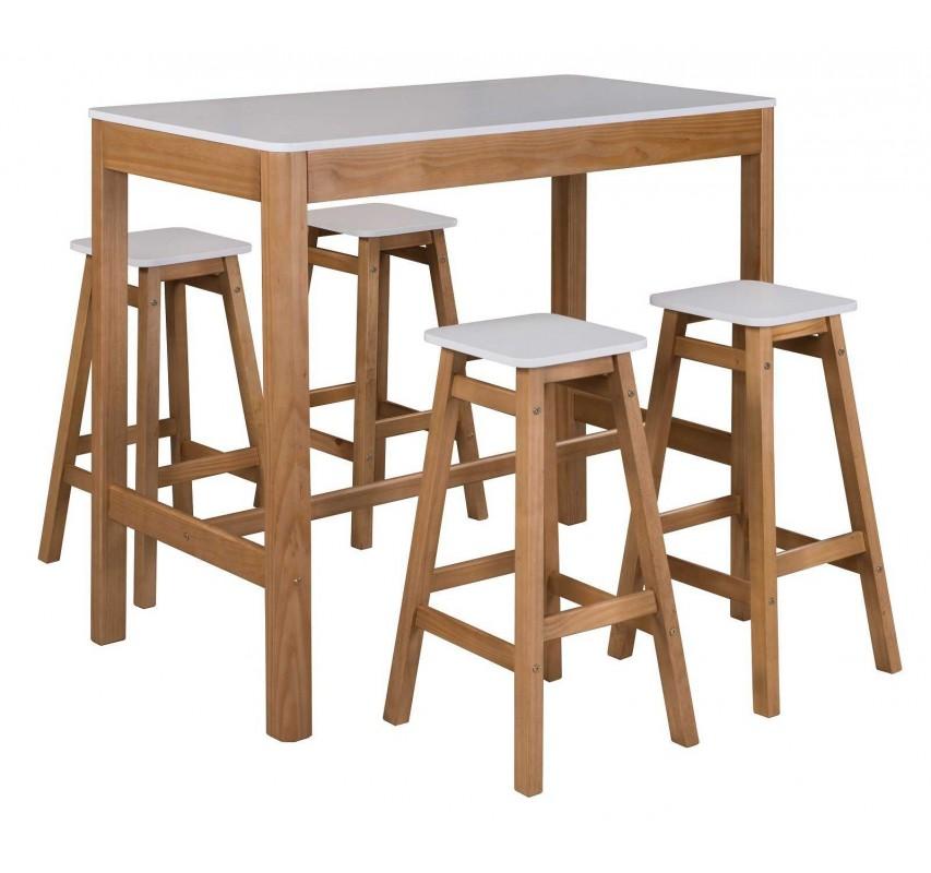 Dřevěný barový stolek Irelia