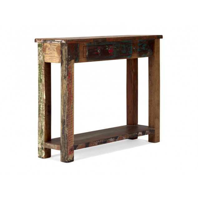 Barevný konzolový stolek z exotického dřeva Agra