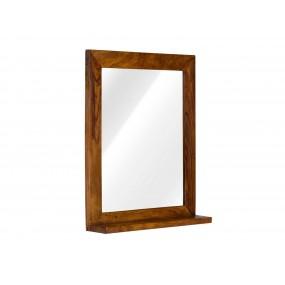 Zrcadlo s masivním palisandrovým rámem Squarus