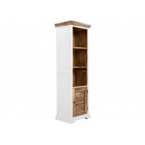 Dřevěná knihovna Madagaskar bílá