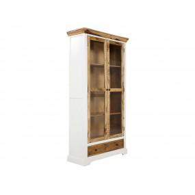 Dřevěná vitrína Madagaskar bílá