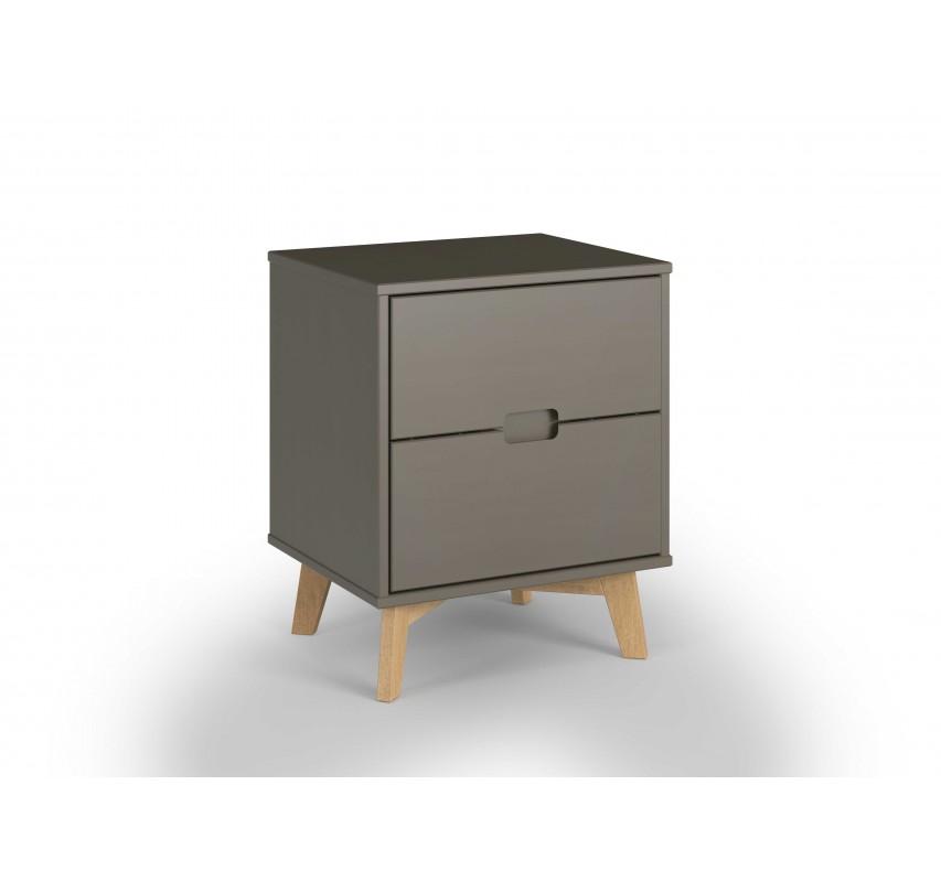 Dřevěný noční stolek Nicos