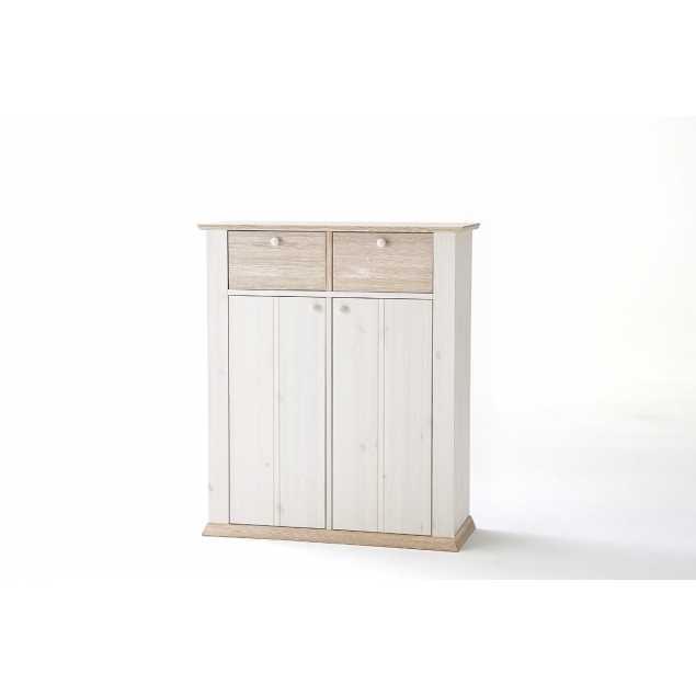 Bílý ložnicový prádelník Goterberg
