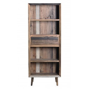 Knihovna z recyklovaného dřeva Cairo