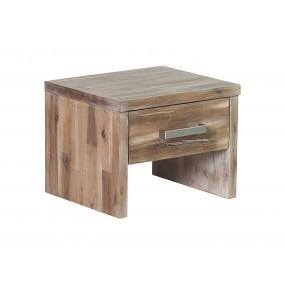 Masivní noční stolek z akátového dřeva Albus