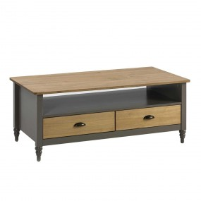 Šedý konferenční stolek z masivního borovicového dřeva Marckeric Iryna