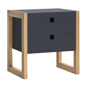 Noční stolek z borovice Dorito - šedý