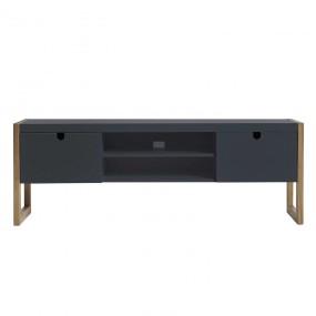 TV stolek z borovice Derrick - šedý