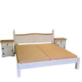 Dřevěná postel z masivu Mexiko 180x200