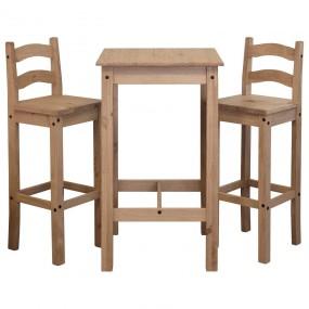 Barová židle z borovicového masivu Mexiko