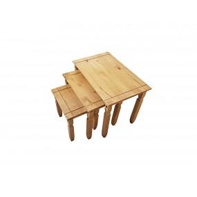 Set 3 stoliček Tijuana