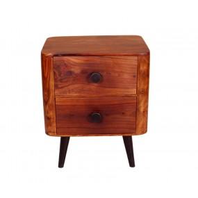 Hnědý noční stolek z palisandru Corleone