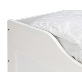 Postel z borovice Diana - bílá 90x200