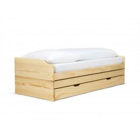 Rozkládací postel Diana - 90x200 bílá