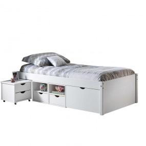 Multifunkční postel TILL 90x200 cm bílý lak