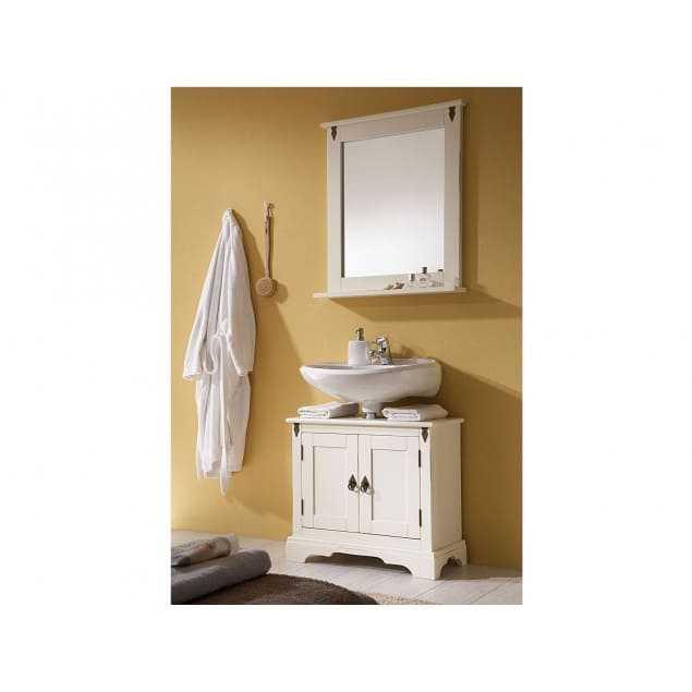 Bílá skříňka pod umyvadlo se zrcadlem Jodpur