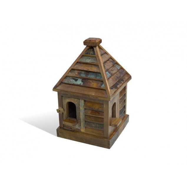 Barevná dekorace hrad ze dřeva