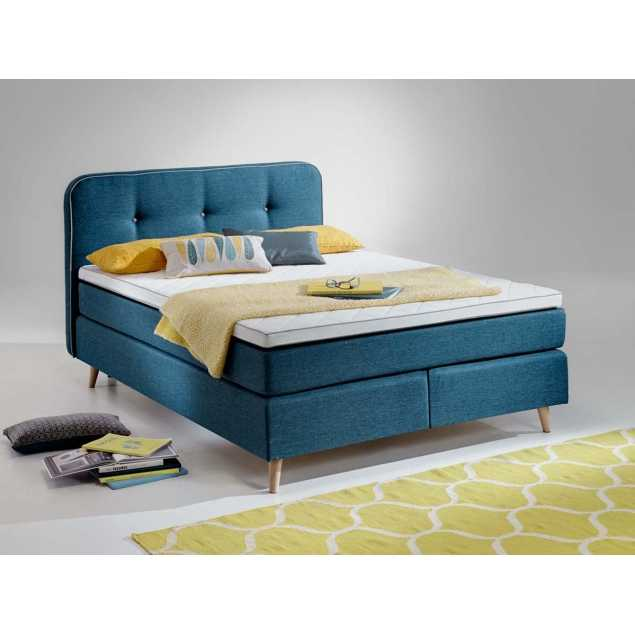Boxspring postel deecoy modrá