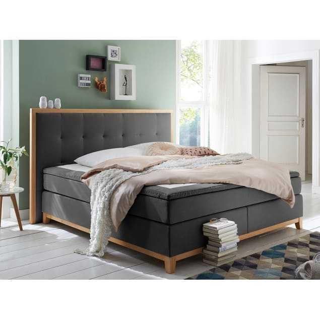 Boxspring postel madonna šedá