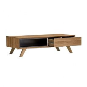 Konferenční stolek s černými detaily Marckeric Tivoli, 120 x 35 cm