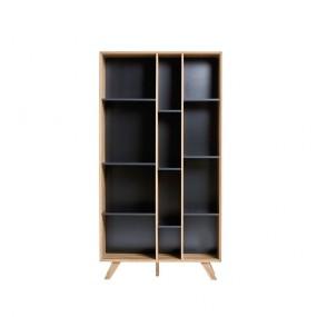 Knihovna s černými detaily Marckeric Tivoli, 98 x 184 cm