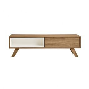 Konferenční stolek s bílými detaily Marckeric Tivoli, 120 x 35 cm