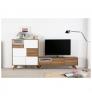 Televizní stolek s bílými detaily Marckeric Tivoli, 150 x 45 cm