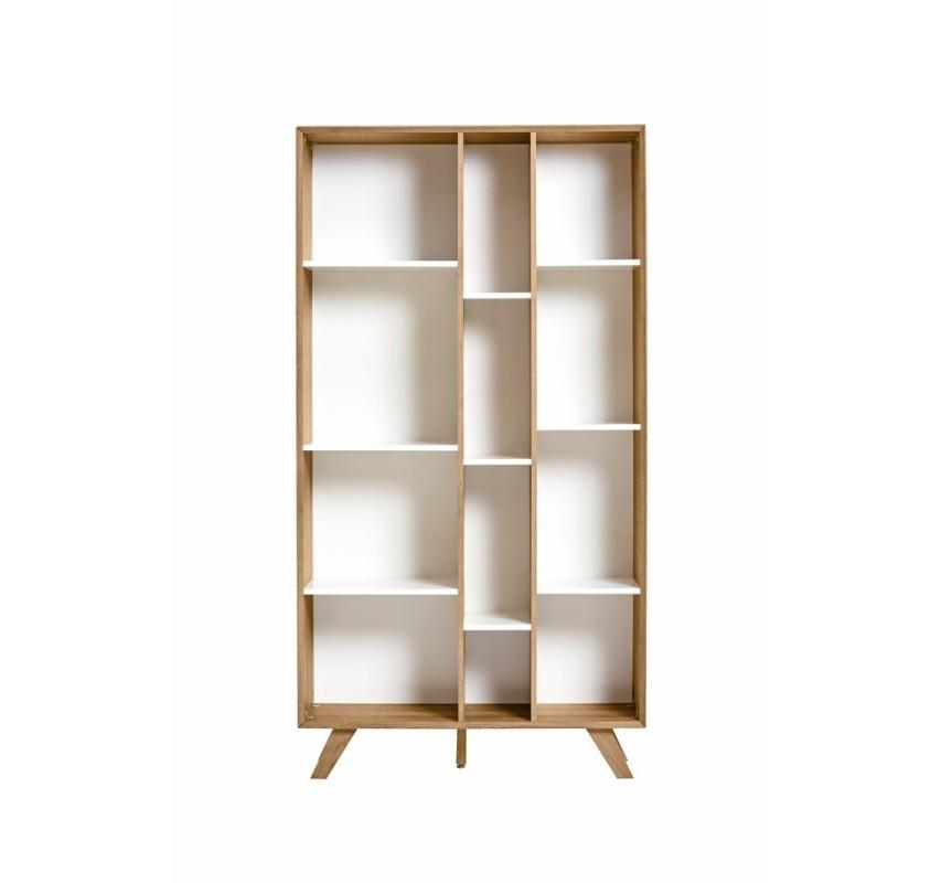 Knihovna s bílými detaily Marckeric Tivoli, 98 x 184 cm