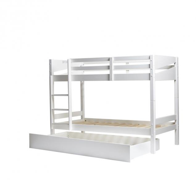 Bílá palanda s šuplíkem na matraci pro hosta Marckeric Torino, 90 x 190 cm