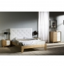 Noční stolek s bílými detaily Marckeric Yari, 50 x 46 cm