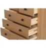 Komoda s 5 zásuvkami z masivního borovicového dřeva Marckeric Mia, 79 x 83 cm