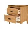 Noční stolek z masivního borovicového dřeva Marckeric Mia, 46 x 53 cm