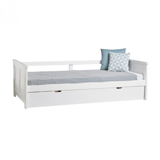 Bílá rozkládací postel Marckeric Maui, 90 x 190 cm
