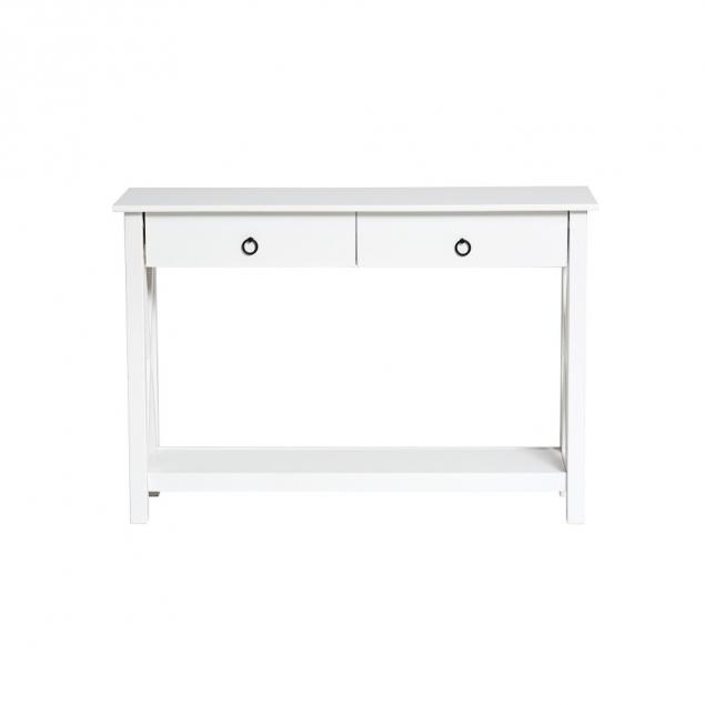 Bílý konzolový stolek Marckeric Maui, 110 x 80 cm