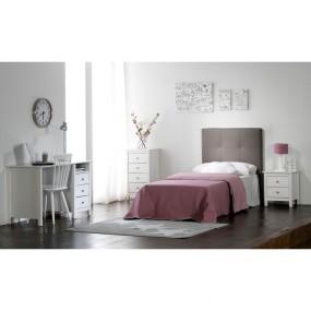 Bílý noční stolek z masivního borovicového dřeva se 2 zásuvkami Marckeric Berna