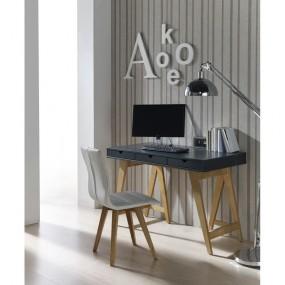Antracitově šedý pracovní stůl Marckeric Gaudi