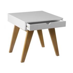 Bílý odkládací stolek Marckeric Gaudi