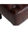 Hnědá kožená stolička Chesterfield