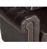 Luxusní černé křeslo z umělé kůže Chesterfield