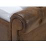 Manželská postel z umělé kůže Chesterfield Comfort