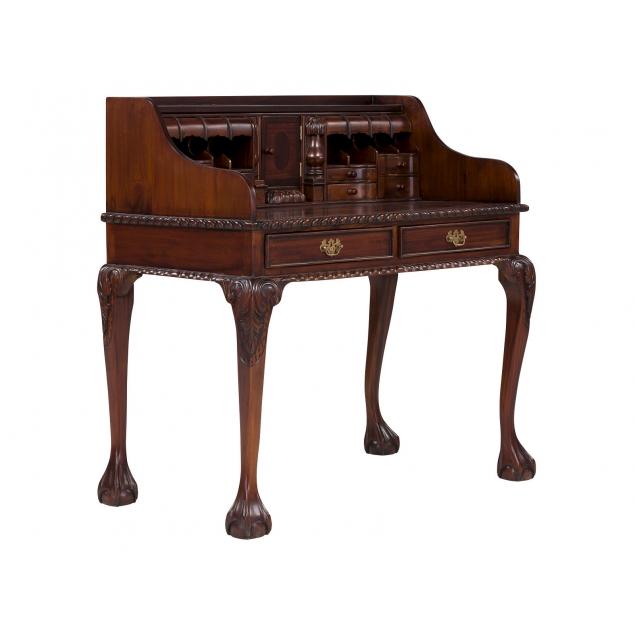 Psací stůl se sekretářem z mahagonu Oxford