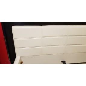 Postel z bílé eko kůže Jada 160x200 - LIKVIDACE VZORKU