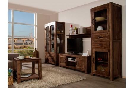 Obývací stěna z tmavého palisandru Rosewood