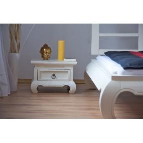 Noční stolek bílý China - LIKVIDACE VZORKU